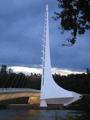Sundial Bridge at Turtle Bay 1 (tgstewart1) Tags: california bridge sunset northerncalifornia sundial calatrava santiagocalatrava sacramentoriver pedestrianbridge turtlebay reddingca sundialbridge suspensionbridges turtlebaysundialbridge sundialbridgeatturtlebay