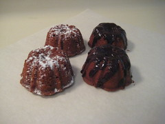 Mini Milk Chocolate Bundt Cakes