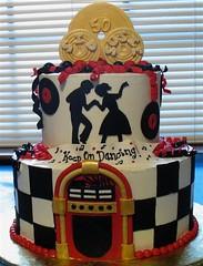 Sid & Susie 50's Style 50th Anniversary Cake (mandotts) Tags: wedding dance oldies 50thanniversary anniversay 50sstyle mywinners