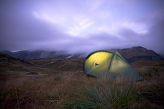 Pitch on Cat Crag (simpologist) Tags: camping twilight dusk lakedistrict tent eskdale catcrag