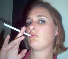 Smoking chubby girl