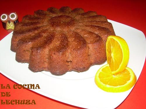 Pastel choco-naranja entero