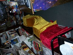 The books hidden under cloths (AlleyCast Chris) Tags: release hallows deathly