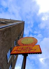 No drive through (lght) Tags: turku finland nikon d80 nikkor 1224 trafficsign wideangle sky clouds