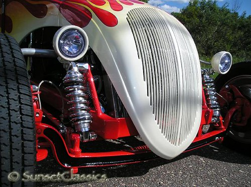 1936 Fiat 500 Topolino Hot Rod Close-Up Grille