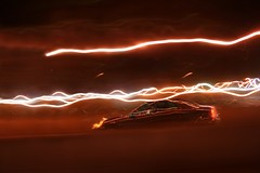 night traffic (ascendent) Tags: usa abstract speed motionblur nighttraffic abstractlight instantfave