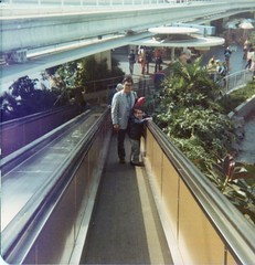 Dad and Me making our way from the Monorail Station at Tomorrowland (Loren Javier) Tags: california me dad disneyland disney monorail anaheim tomorrowland disneylandresort lorenjavier cesarjavier