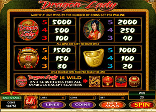 free Dragon Lady slot mini symbol