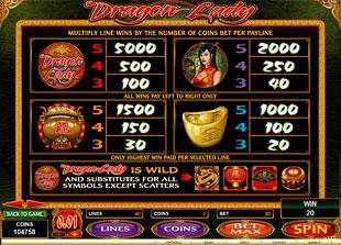 free Dragon Lady slot mini symbol
