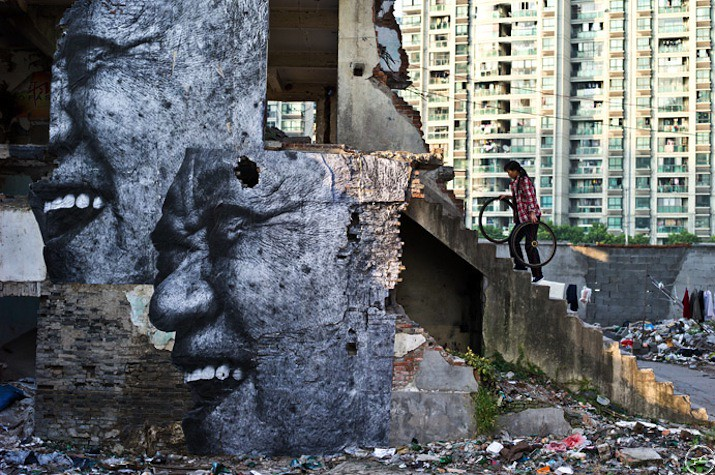 5127624708 016afc00aa b Artist JR   Street art raising questions across the world [24 Pics]