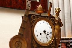 Day 61: The Clock is Ticking (real.tingley) Tags: paris france clock statue canon gold muse flame timepiece instrument 365 cauldron 500d t1i