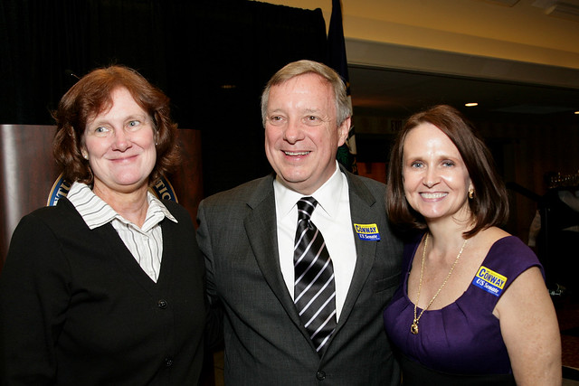 Senator Dick Durbin with Supporters