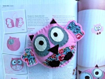 Baby Felt Owl