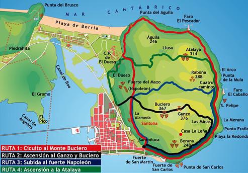 Ruta del Monte Buciero, Santoña