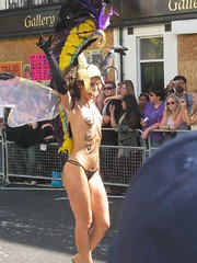 She is almost nude (Sakena) Tags: nude nottinghillcarnival yourfavorites canonixus50