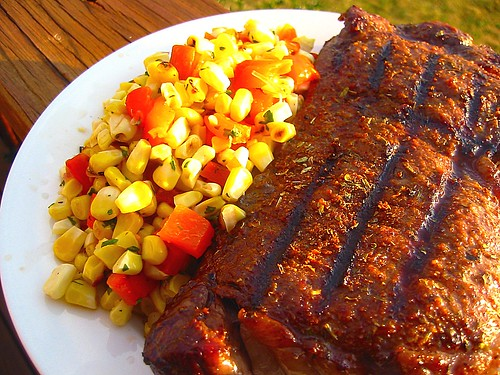 Chile-Rubbed Steak