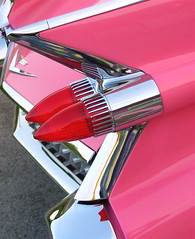 Rowr. (~ Liberty Images) Tags: auto pink sunset classic car canon vintage interesting classiccar automobile gm pretty headlights cadillac powershot retro explore wv chrome transportation 100views vehicle americana a80 caddy taillights pinkcadillac views100 interestingness165 pinkcaddy artofclassiccars bestofpink