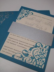 Wedding Invitations - Michael & Michelle (UglyKitty) Tags: thankyou gocco etsy custom rsvp weddinginvitation uglykitty