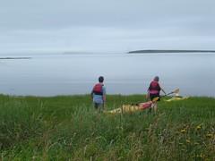 High tide kayaking