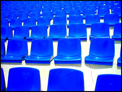 audience still missing (lg Fotografi) Tags: summer catchycolors photos explore bulgaria amphitheater blau 2007 djuni aplusphoto blauesitze