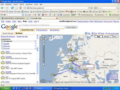 My Maps Luftlinie