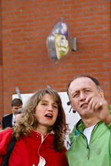 Sharon Gesthuizen in gesprek met actievoerders KPN (SP Foto's) Tags: sp kpn sharongesthuizen fotobs