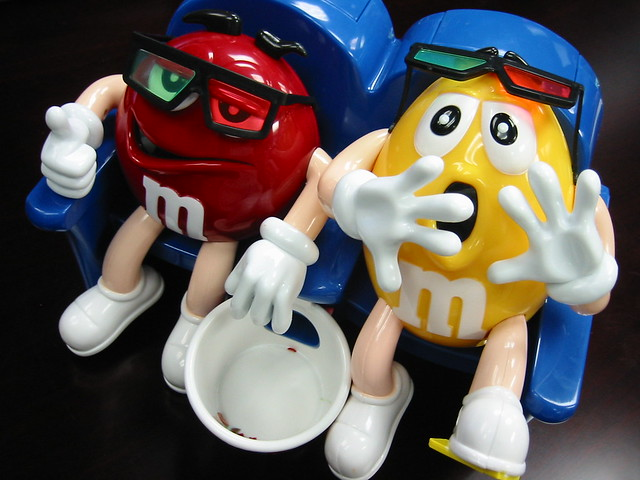 Portal 2 robots Co-op M&Ms Red y Yellow