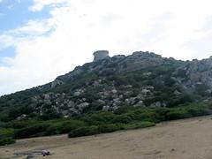 Presqu'île de Campomoro avec la tour en arrière-plan