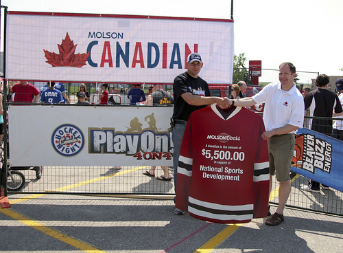 Play on! Calgary Cheque Presentation