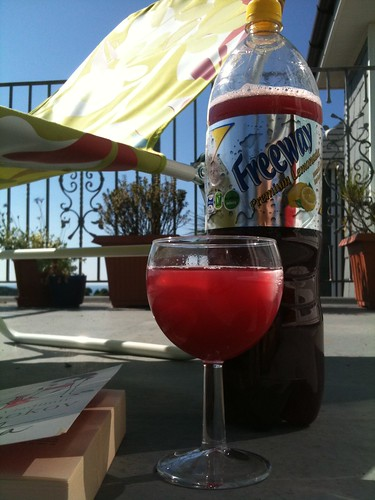 Homemade sangria in the sun