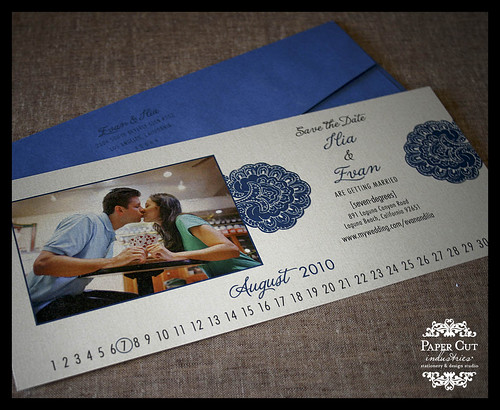No. 10 Invitation Save the Dates Black and Blue