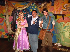 Meeting Rapunzel and Flynn at the Tangled Meet-And-Greet (Loren Javier) Tags: california me disneyland disney anaheim rapunzel fantasyland tangled disneylandresort disneycharacters disneylandcastmembers lorenjavier flynnrider tangledmeetandgreetarea