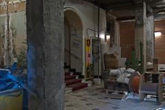 Baustelle, Eingangsbereich Hotel Schweizerhof.