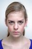 Angry little girl (Werner Kunz) Tags: lighting light portrait anna girl face umbrella photoshop nikon funny little head flash wideangle anger psycho hate angry teenager highkey frustration pissed psychology strobist noshadows nikond90 werkunz1
