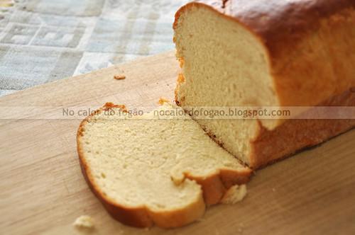 Pão da tia Zeci cortado