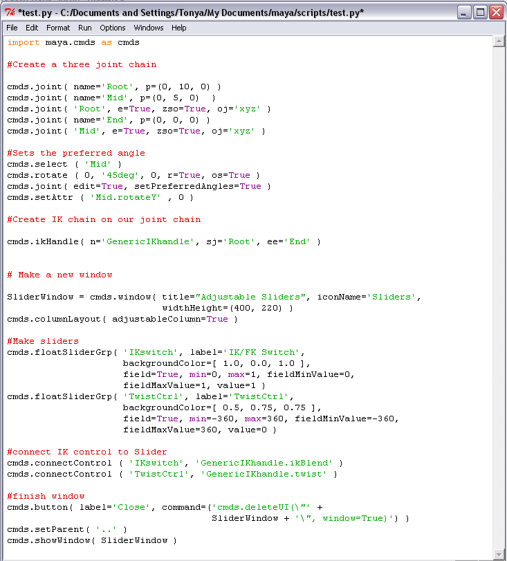 Rigging 3D: Python Scripting in Maya