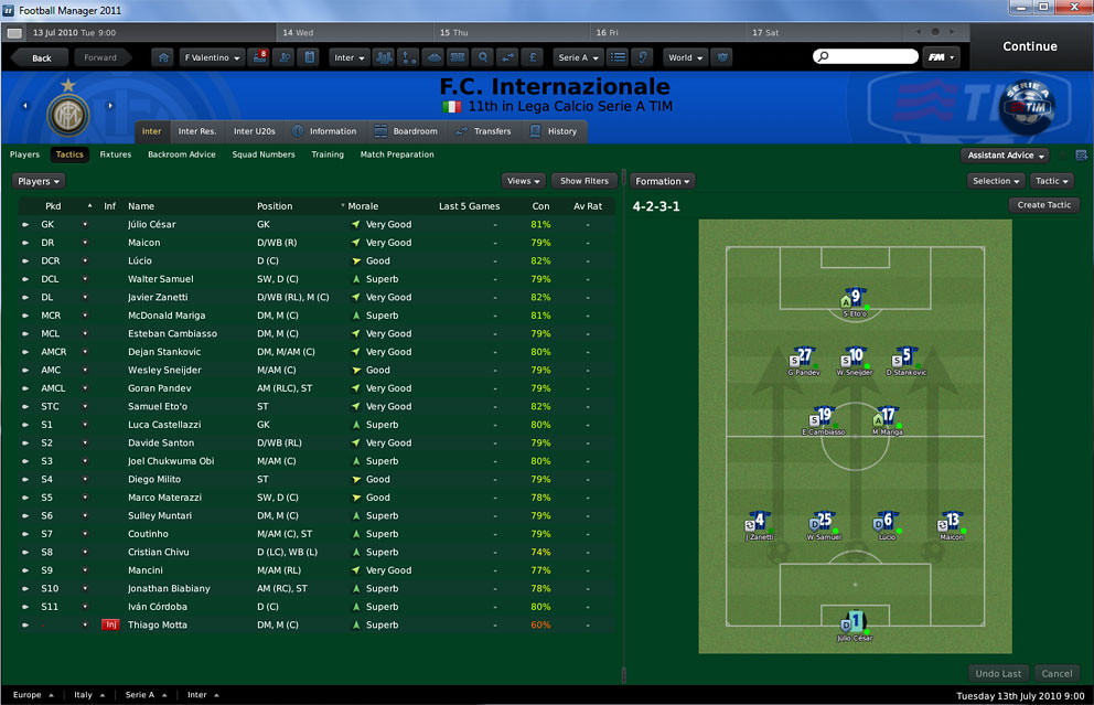 how to change attribute colours in football manager