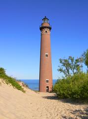 Little Point Sable Lighthouse, MI (hatchski) Tags: ocean light sea lighthouse lake beach point coast lighthouses little michigan great lakes sable lakemichigan greatlakes littlepointsable scenicmichigan