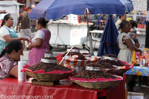 chapulines (grasshoppers) at the market