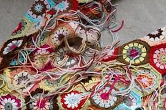 496 (MOONSTITCHES mangetsu) Tags: wool crochet merino yarn badge afghan hexagon fl hamanaka exceed grannyalong