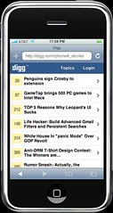 Digg on the iPhone