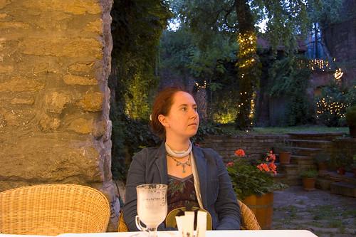 Lotta at Café Pierrot in Buda