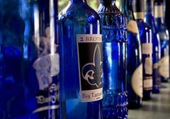 Blue Bottles (ellievanhoutte) Tags: blue glass wine bottles ellie alcohol labels vanhoutte ellievanhoutte