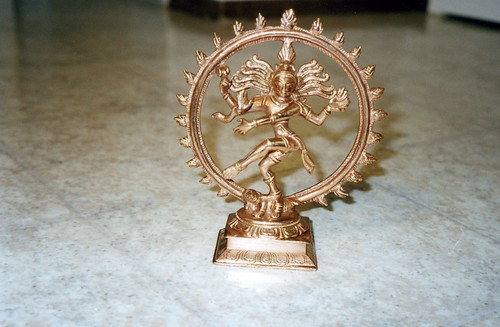 Statue of Shiva dancing the dance of creation