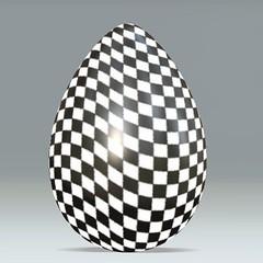 Wavy Checkered Flag Egg (AlpenaMi) Tags: bw mc nascar tonystewart ccc pal sporty alpena easteregg bwset endend bwaa dumpr artlegacy tonystewartonly eggsonly sportyeggsset 5bwaa