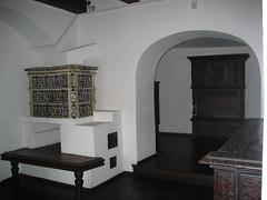 castle ceramic fireplace romania transylvania bran ardeal