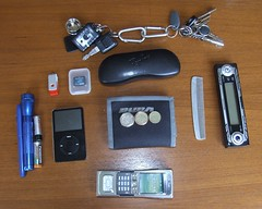 In my pockets (DavidShutter) Tags: keys ipod wallet pocket maglight n91
