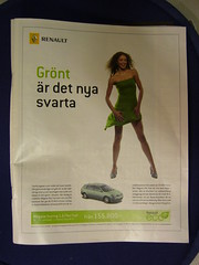 """Grönt är det nya svarta"" - ""Green is the new black"""