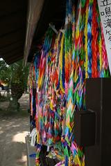 paper cranes at the Atomic Bomb Memorial Mound, Hiroshima Peace Memorial Park (flashlightfish) Tags: park monument japan paper memorial peace hiroshima cranes bomb atomic atomicbomb abomb papercranes