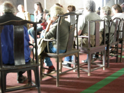 group discussion at Aue-Pavillon